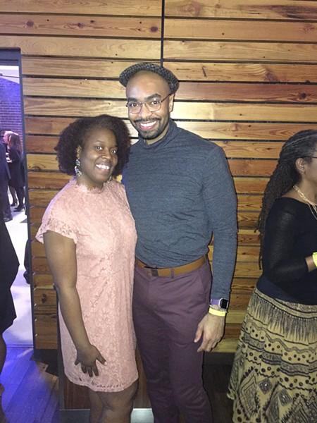 Kiesha Davis and Christopher Capel at St. Jude Spirit of the Dream. - MICHAEL DONAHUE