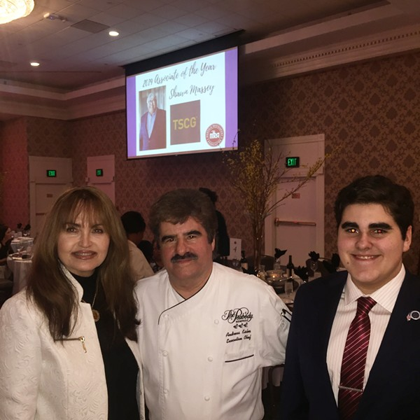 Andreas Kisler with his wife, JoAnn, and son, Blade at Memphis Restaurant Association's 55th annual banquet. - MICHAEL DONAHUE