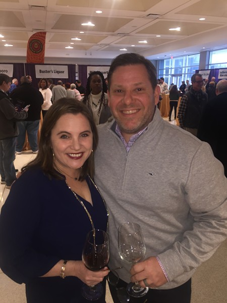 Catherine Duncan and Larkin Grisanti at A Taste of CBHS. - MICHAEL DONAHUE