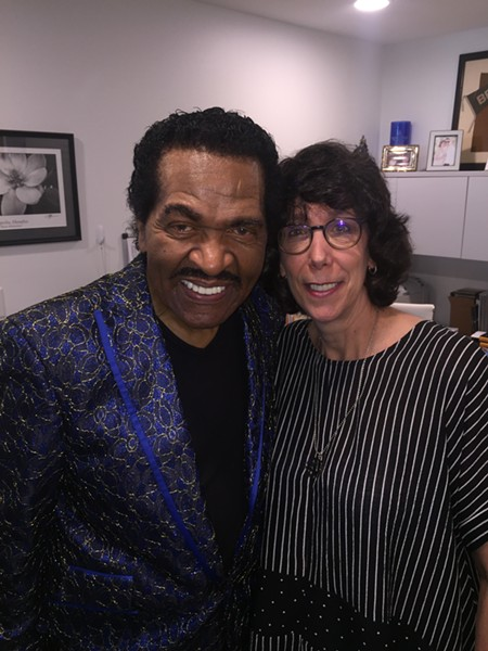 Bobby Rush and Barbara Newman at Rush's CD release party - MICHAEL DONAHUE
