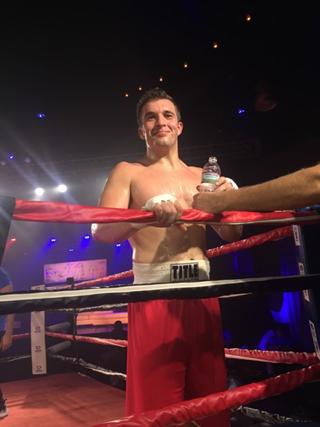 Howard Summers was the victor in his bout at Fight Night. - MICHAEL DONAHUE
