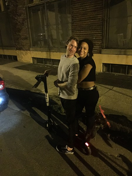 Alec Dawson and Lia Morris on Front Street. - MICHAEL DONAHUE