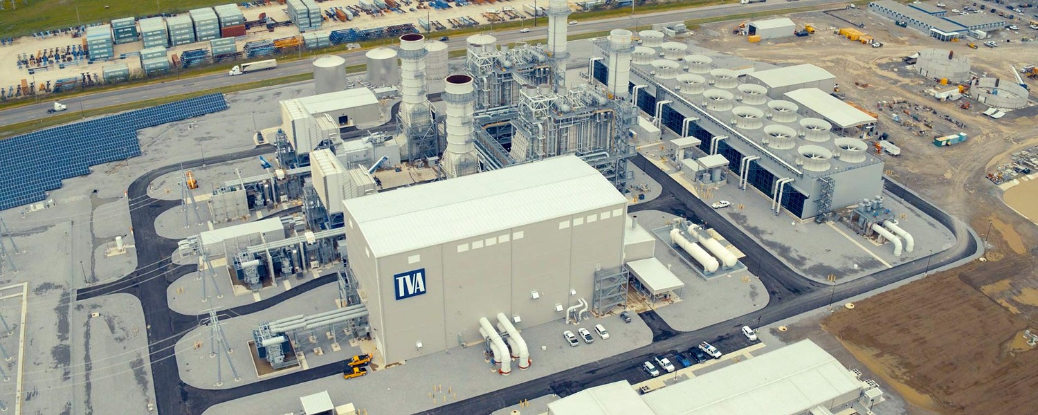 TVA's new natural-gas-fueled Combined Cycle Plant. - TVA