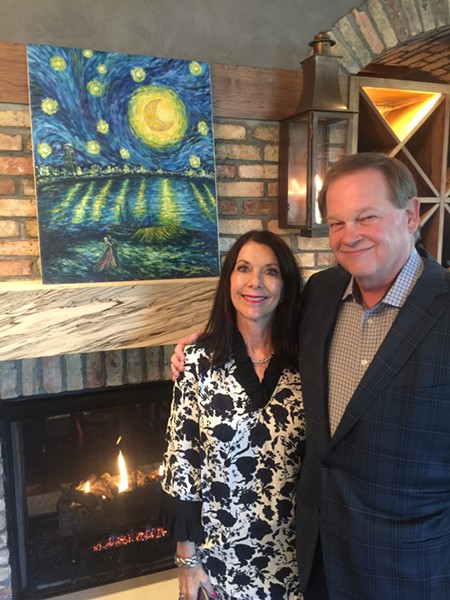 Liz and Tommy Peters at Moondance Grill - MICHAEL DONAHUE