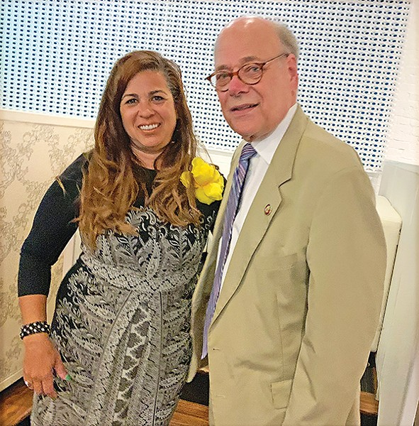 Congressman Steve Cohen (  r) with Council endorsee Erika Sugarmon - JACKSON BAKER