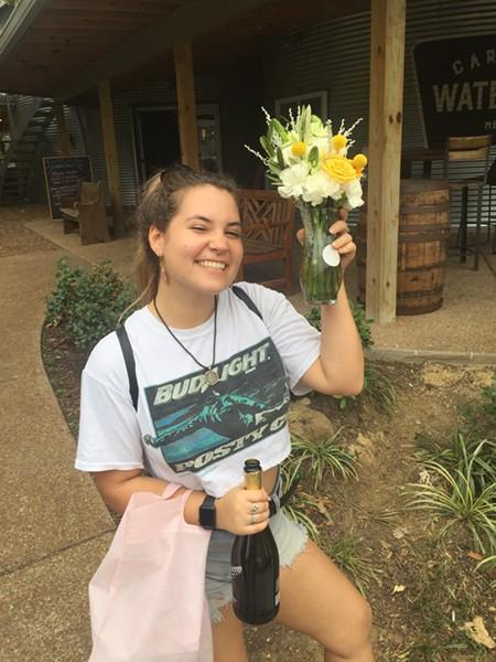 Savannah Young celebrates her birthday at Carolina Watershed. - MICHAEL DONAHUE