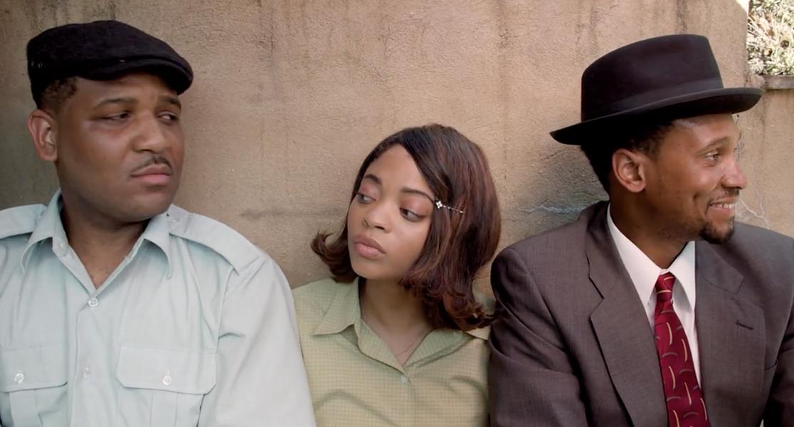 "C.W. Robertson, Rheannan Watson, and Syderek Wilson in ""Always Open: The Eureka Hotel""."
