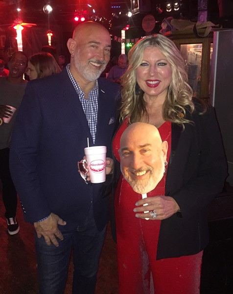 Shawn Danko was given a surprise 50th birthday party, which was held October 26th at The Warehouse. That's his wife, Lana, with him. - MICHAEL DONAHUE
