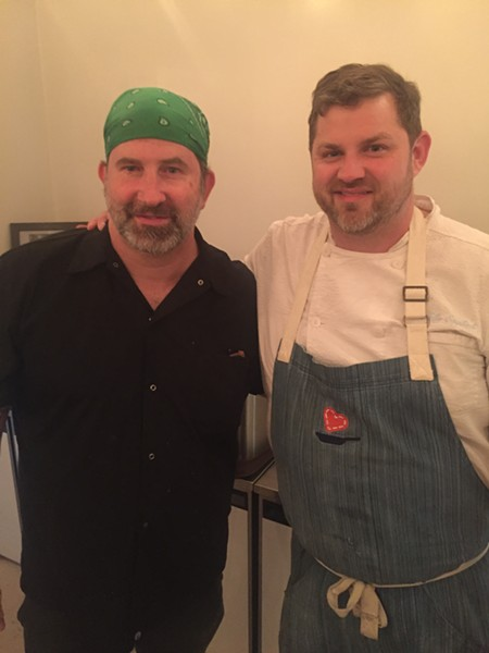 Spencer McMillin and Kelley English from Restaurant Iris and The Second Line teamed up for the Caritas Community Center & Cafe Chef Partnership Dinner, which was held November 14th. - MICHAEL DONAHUE
