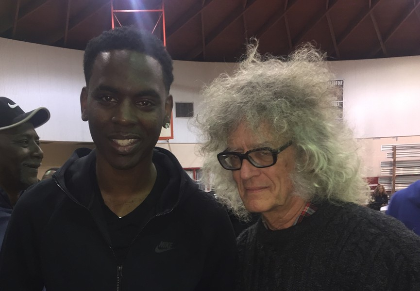 Young Dolph and Yours Truly at the turkey giveaway. - MICHAEL DONAHUE
