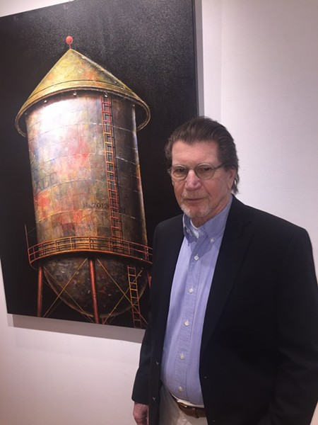 John Robinette held an exhibition of his paintings at ANF Architects. - MICHAEL DONAHUE