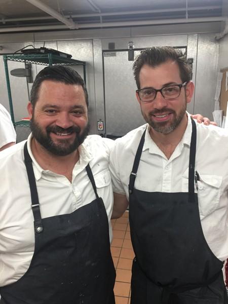 Michael Hudman and Andrew Ticer at Bishop. - MICHAEL DONAHUE