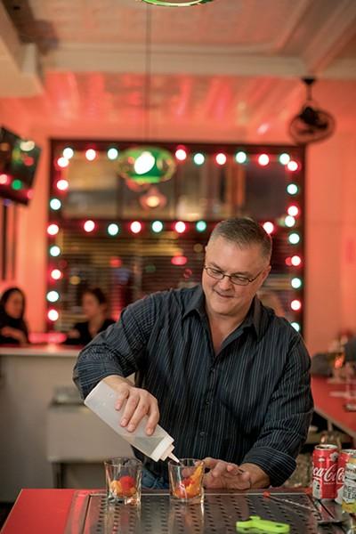 Mike Hutsell at Bar Keough - PHOTOGRAPHS BY JUSTIN FOX BURKS