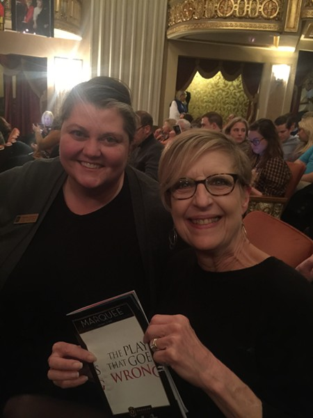 "Attending ""The Play That Goes Wrong"" at the Orpheum were Charlene Honeycutt and Kacky Walton. - MICHAEL DONAHUE"