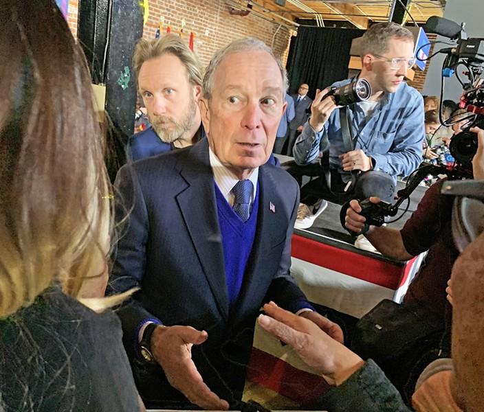 Mike Bloomberg at Inglewood Hall - JB