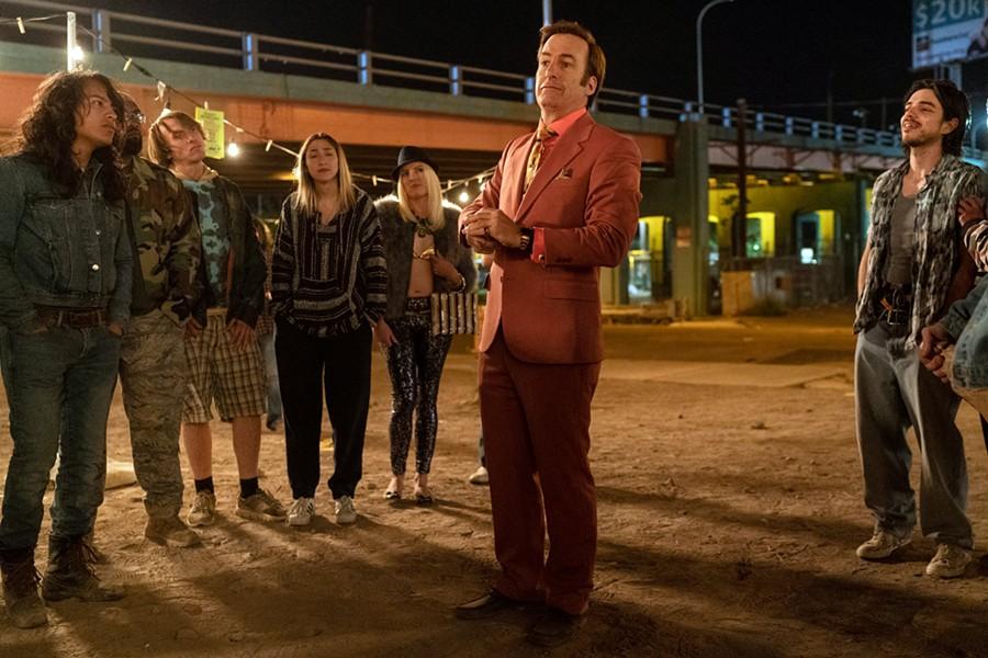 Saul Goodman (Bob Odenkirk) offers 50% off felonies in Better Call Saul.