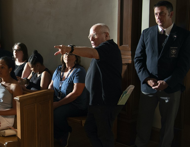 Director Andy Wolk on the set of Bluff City Law. - COURTESY NBC UNIVERSAL
