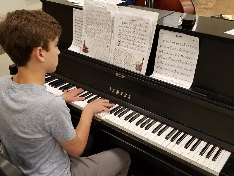 """A budding pianist takes on """"Autumn Leaves"""" and """"Blue Bossa"""" at MJW. - STEPHEN LEE"""