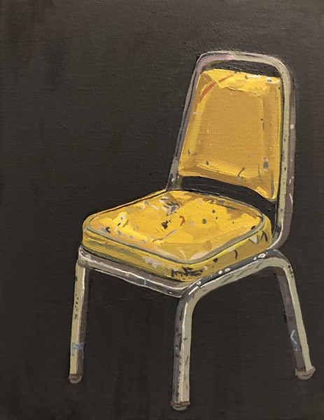 """Yellow Studio Chair"" - ROBERT FAIRCHILD"