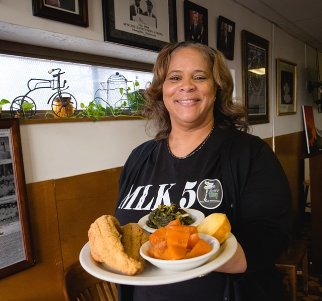 Patrice Bates Thompson, owner of The Four Way Restaurant
