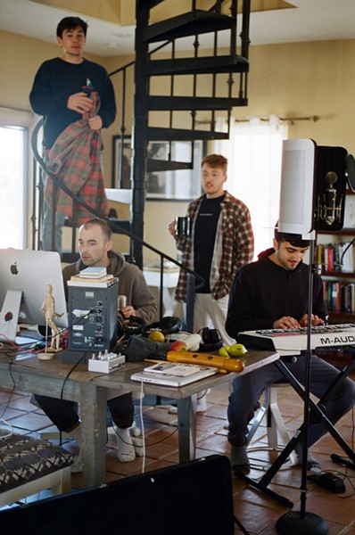 Working at Joshua Tree: Conrad Hsiang, Ethan Healy, Grant Yarber, and Ali Abu-Khraybeh. - HENRY HEAD