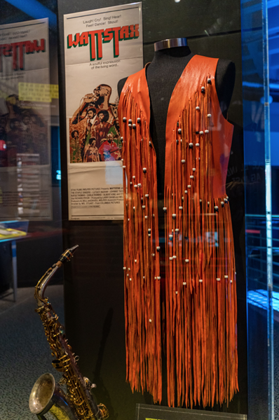 Isaac Hayes' vest from the Wattstax performance - COURTESY THE 1974 COLLECTION OF THE ROCK & ROLL HALL OF FAME