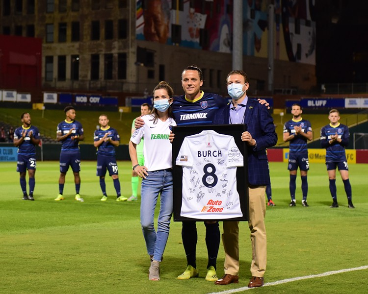 Captain Marc Burch announced his retirement at the end of the 2020 USL season. - ERIC GLEMSER