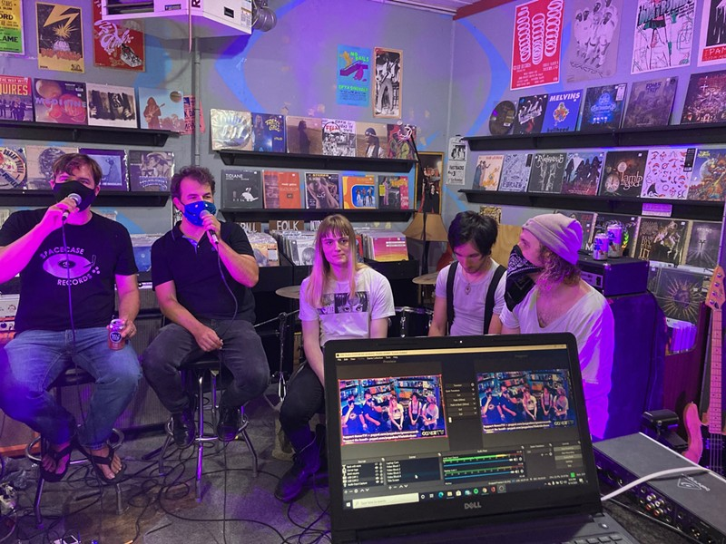 Eric Friedl and Zac Ives interview the Archaeas for Goner TV
