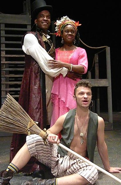 Phil Darius Wallace as Oberon, Stephanie Weeks as Titania, and Noah Duffy - COURTESY OF TSC