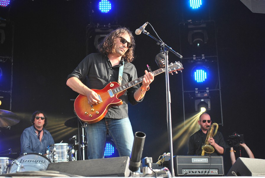 Adam Granduciel of the War on Drugs performing Saturday at Bonnaroo. - BIANCA PHILLIPS