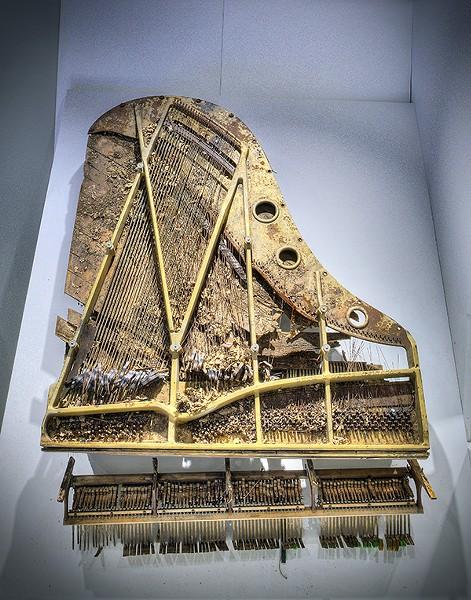 Jim Dickinson's piano - JUSTIN FOX BURKS