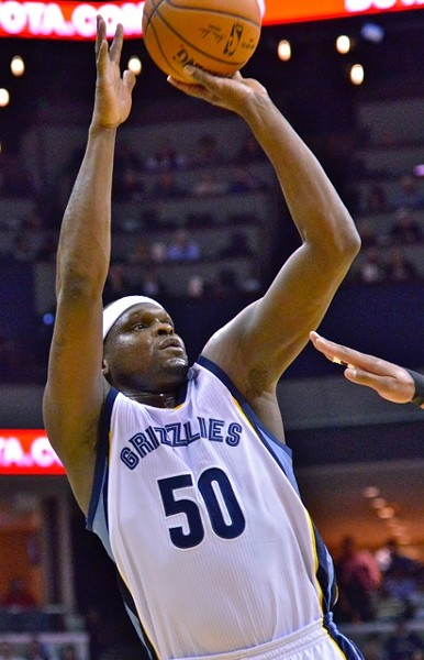Zach Randolph came off the bench Sunday evening against the Heat. - LARRY KUZNIEWSKI