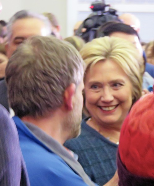In give-and-take sessions, Hillary Clinton can be persuasive, even charming. - JB
