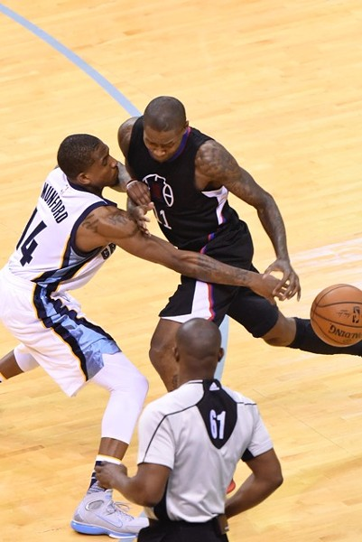 I think this is the only photo I have of Xavier Munford and he's knocking the ball away from Jamal Crawford. Welcome to Memphis, Xavier. - LARRY KUZNIEWSKI