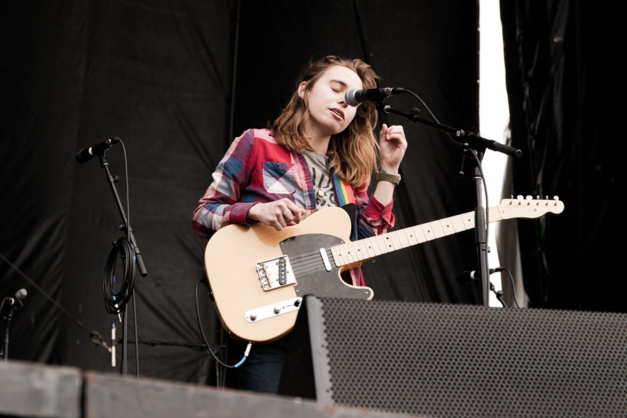 Julien Baker on the FedEx Stage at Beale Street Music Fest 2016.