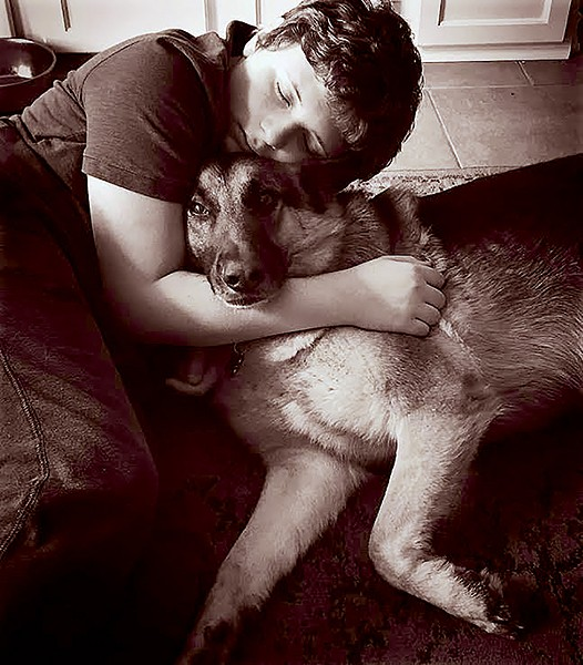Charlie Cantkier and his dog Gus