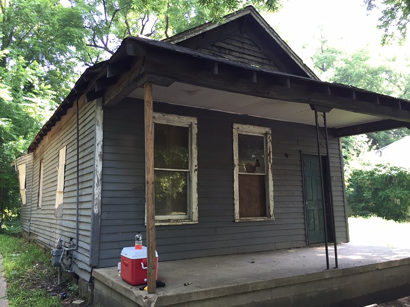 Aretha Frankin's birthplace at 406 Lucy