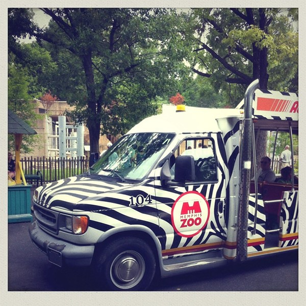 An existing zoo tram. - YELP