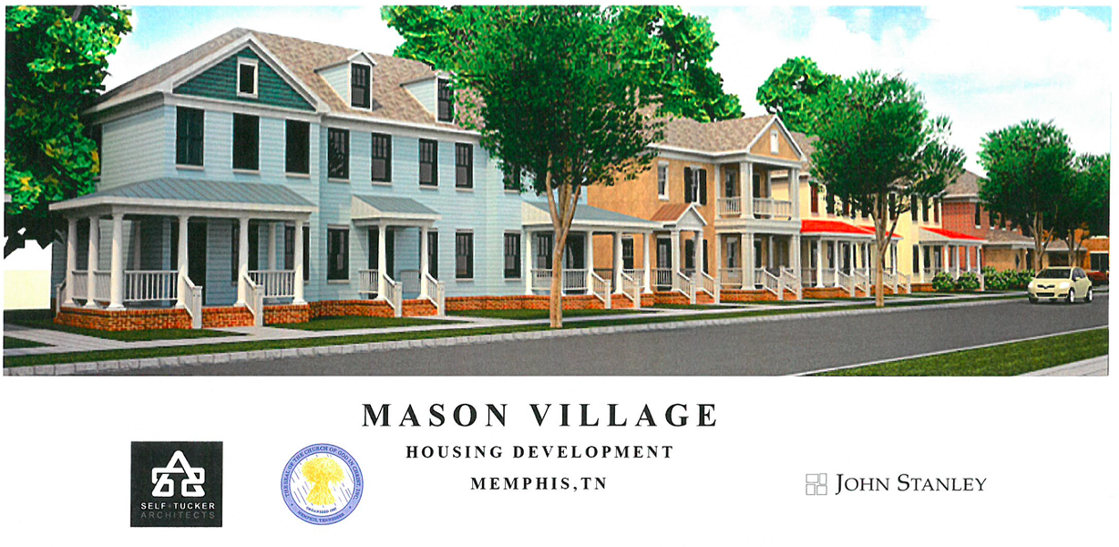 An artist's rendering of the planned Mason Village project. - CHURCH OF GOD IN CHRIST