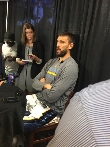 Marc Gasol talked at length about how challenging his rehab process has been. - KEVIN LIPE
