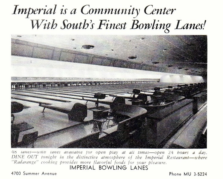 A 1959 ad for the bowling alley in - MEMPHIS MAGAZINE