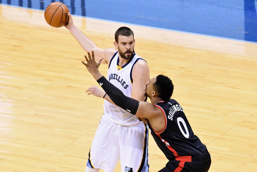 Marc Gasol scored a career-high 42 points. - LARRY KUZNIEWSKI