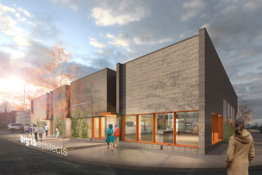This new retail center will built at the corner of Union and Diana. - LOEB PROPERTIES