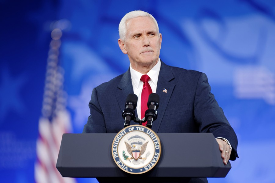 By canceling his trip to Memphis, the vice-president has avoided witnessing a potential Butler loss and at least one planned protest. - MICHAEL VADON