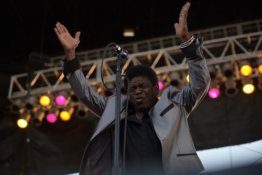 Charles Bradley exhorting the Friday crowd at Beale Street Music Festival 2017. - BRIAN ANDERSON