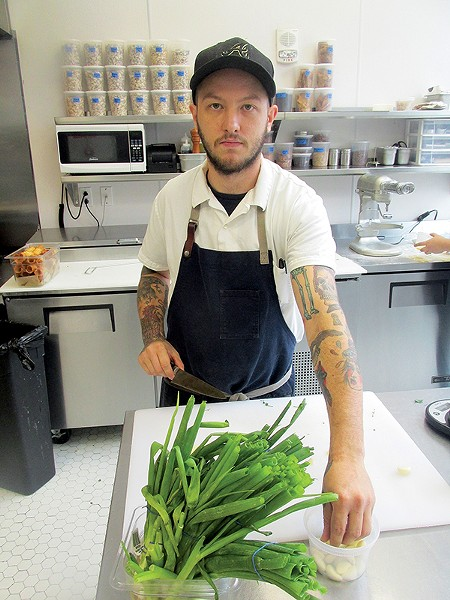 J.R. Bearden, sous chef at - Catherine & Mary's.