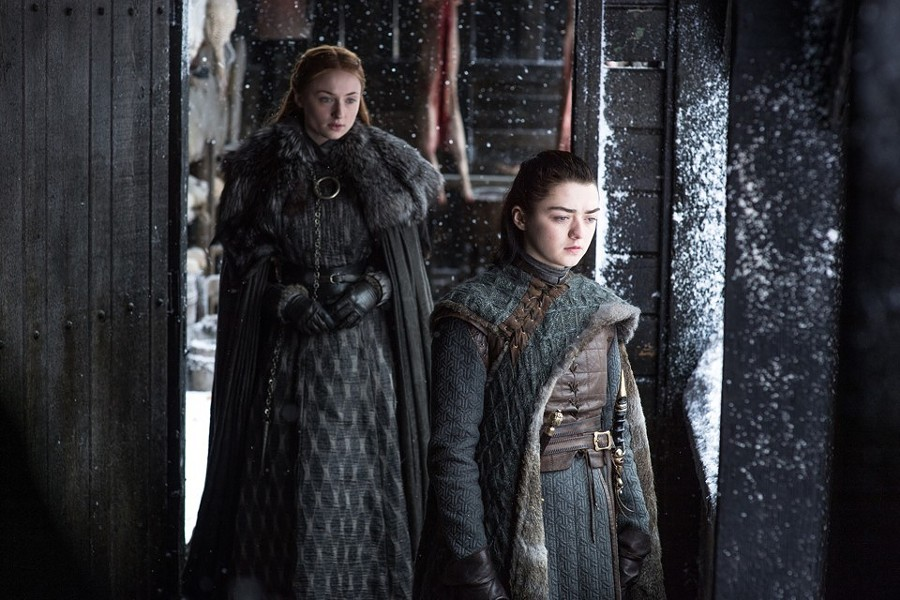 The Sisters Stark: Sansa (Sophie Turner) and Arya (Maise Williams) have a rocky reunion in Game Of Thrones season 7.