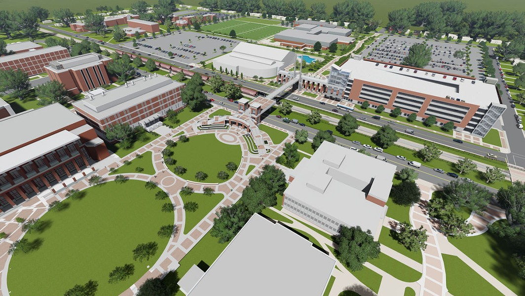 Overview rendering of the Campus Master Plan - UNIVERSITY OF MEMPHIS
