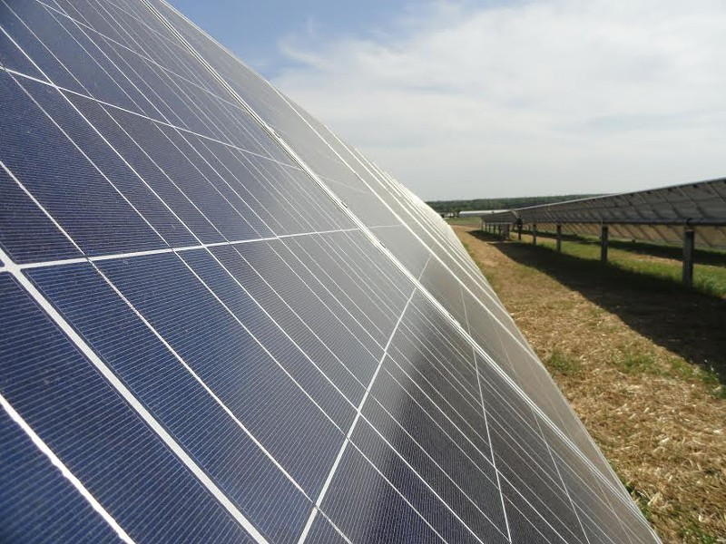 A solar panel array at Agricenter International. - MLGW