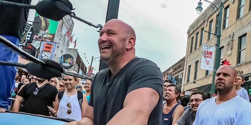 Dana White ringside on Beale Street